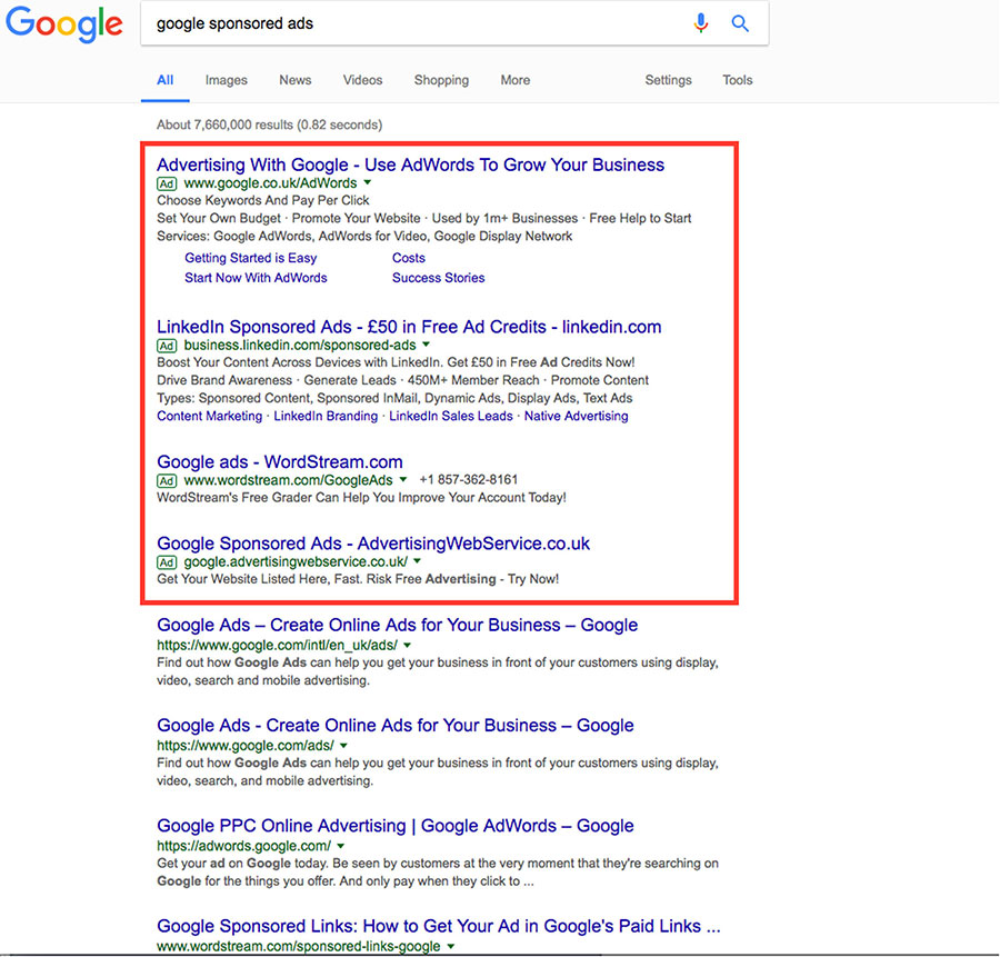 Google Adwords Search